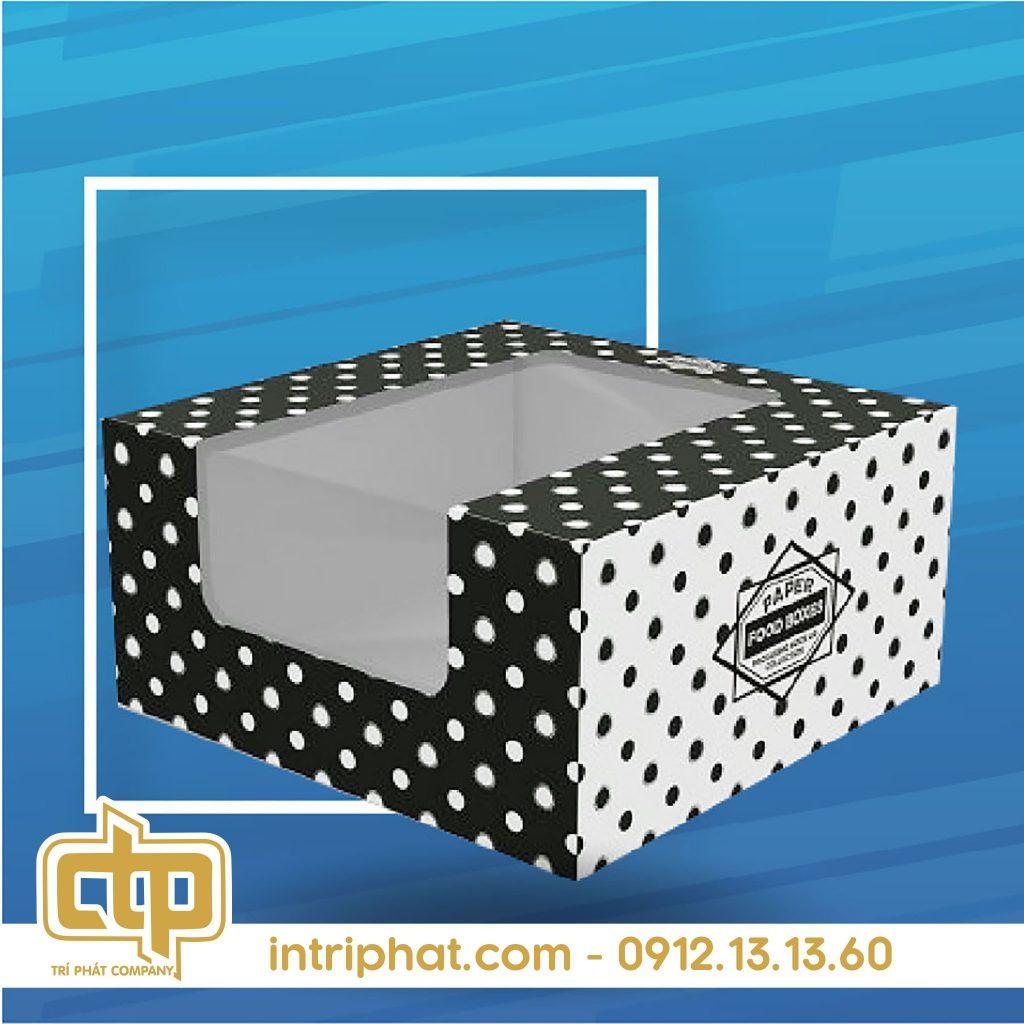 giấy in kraft hộp bánh kem
